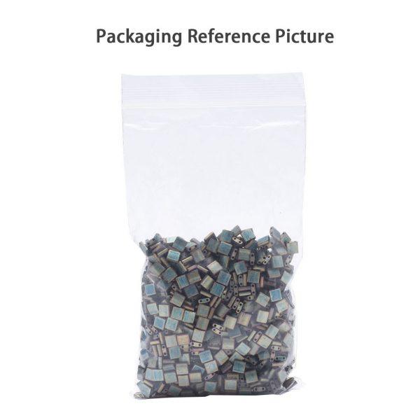 X SEED J020 TL455 4 TL455 Metallic Variegated Blue Iris MIYUKI TILA Beads 2-Hole, 5x5x1.9mm, Hole: 0.8mm; about 118pcs/10g