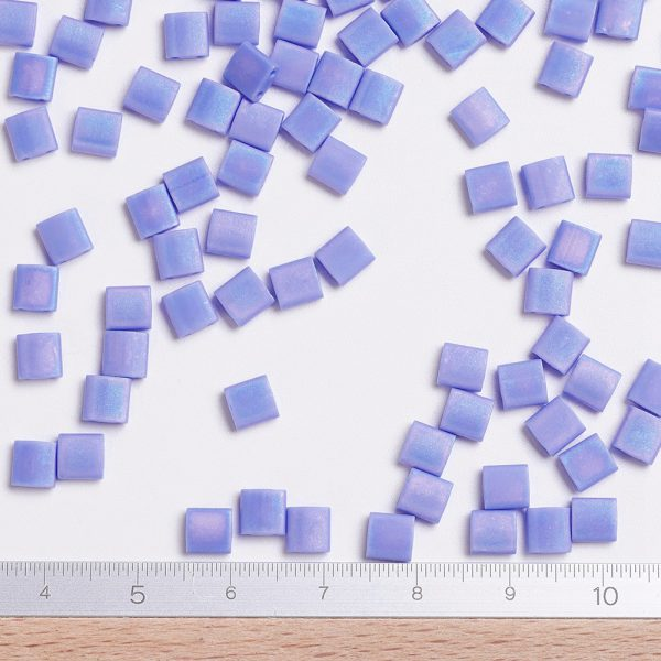 FR 2 MIYUKI TILA TL417L/FR Matte Opaque Periwinkle AB Seed Beads, 50g/Bag