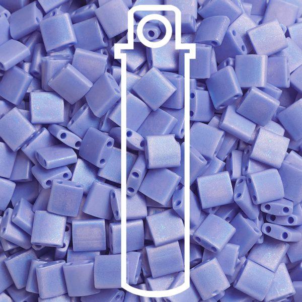 FR 3 1 MIYUKI TILA TL417L/FR Matte Opaque Periwinkle AB Seed Beads, 10g/Tube