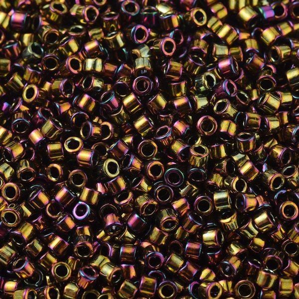 SEED J020 DB0023 1 DB0023 Metallic Gold Iris MIYUKI Delica Beads 11/0, 1.3x1.6mm, Hole: 0.8mm; about 20000pcs/bag, 100g/bag