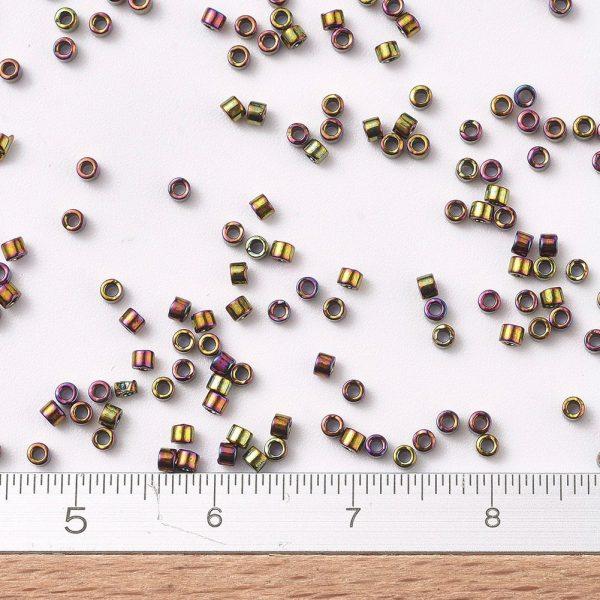 SEED J020 DB0023 2 DB0023 Metallic Gold Iris MIYUKI Delica Beads 11/0, 1.3x1.6mm, Hole: 0.8mm; about 20000pcs/bag, 100g/bag