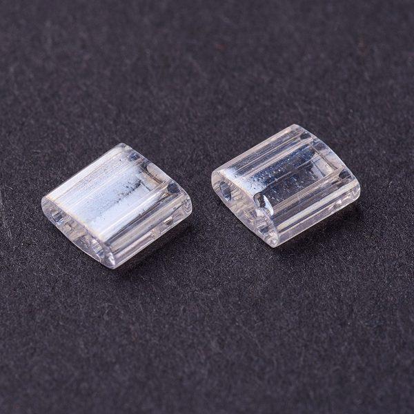 SEED J020 TL160 2 MIYUKI TILA TL160 Crystal Luster Seed Beads, 100g/Bag