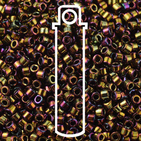 SEED JP0008 DB0023 1 tube DB0023 Metallic Gold Iris MIYUKI Delica Beads 11/0, 1.3x1.6mm, Hole: 0.8mm; about 2000pcs/tube, 10g/tube