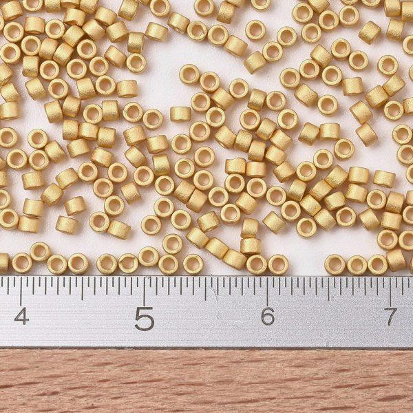 SEED JP0008 DB0331 2 0 MIYUKI DB0331 Delica Beads 11/0 - Opaque Matte 24kt Gold Plated, 10g/bag