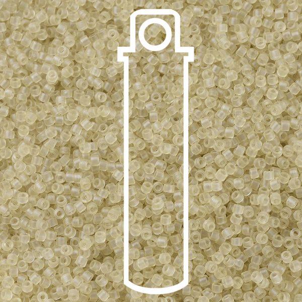 SEED JP0008 DB0382 1 0 Tube DB0382 Matte Transparent Pale Topaz Luster MIYUKI Delica Beads 11/0, 1.3x1.6mm, Hole: 0.8mm; about 2000pcs/tube, 10g/tube