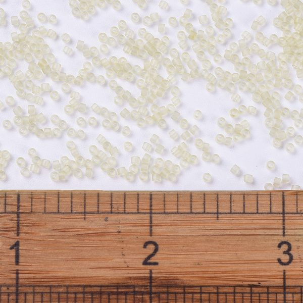 SEED JP0008 DB0382 2 0 DB0382 Matte Transparent Pale Topaz Luster MIYUKI Delica Beads 11/0, 1.3x1.6mm, Hole: 0.8mm; about 2000pcs/tube, 10g/tube