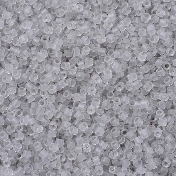 SEED JP0008 DB1271 1 0 DB1271 Matte Transparent Gray Mist MIYUKI Delica Beads 11/0, 1.3x1.6mm, Hole: 0.8mm; about 10000pcs/bag, 50g/bag