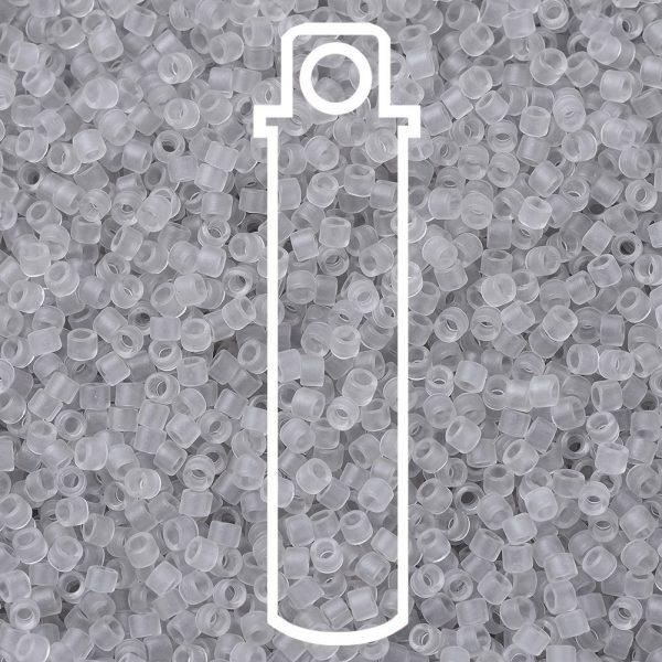 SEED JP0008 DB1271 1 0 tube DB1271 Matte Transparent Gray Mist MIYUKI Delica Beads 11/0, 1.3x1.6mm, Hole: 0.8mm; about 2000pcs/tube, 10g/tube