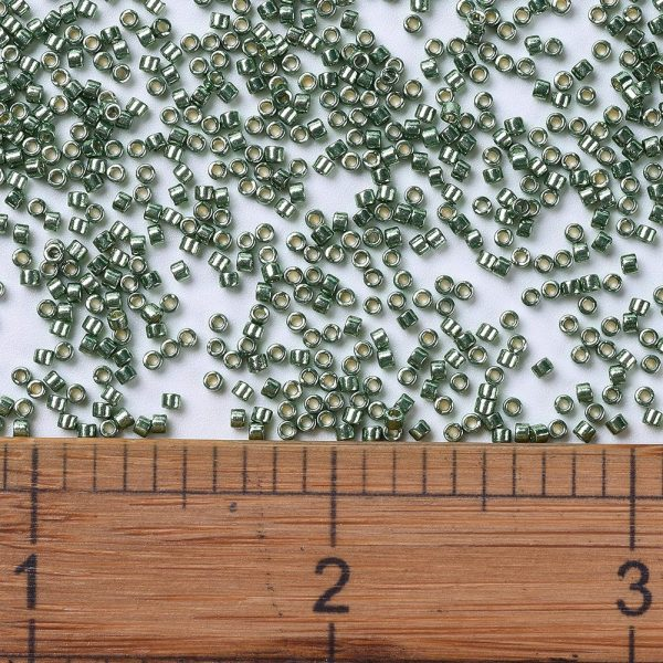 SEED JP0008 DB1845 2 0 DB1845 Duracoat Galvanized Sea Green MIYUKI Delica Beads 11/0, 1.3x1.6mm, Hole: 0.8mm; about 2000pcs/tube, 10g/tube