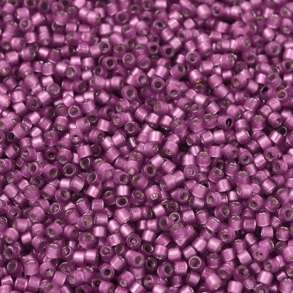 SEED JP0008 DB2181 1 0 DB2181 Duracoat Semi-Frosted Silver Lined Dyed Hydrangea MIYUKI Delica Beads 11/0, 1.3x1.6mm, Hole: 0.8mm; about 20000pcs/bag, 100g/bag