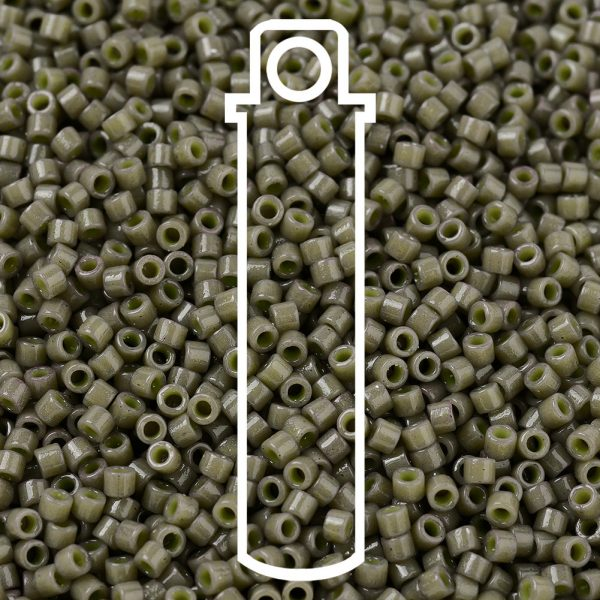 SEED JP0008 DB2365 1 0 bottle DB2365 Duracoat Opaque Dyed Taupe MIYUKI Delica Beads 11/0, 1.3x1.6mm, Hole: 0.8mm; about 2000pcs/tube, 10g/tube