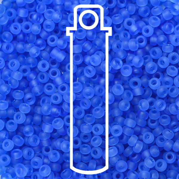 SEED JP0008 RR0150F 1 0 RR150F Matte Transparent Sapphire MIYUKI Round Rocailles Beads 11/0 (11-150F), 2x1.3mm, Hole: 0.8mm; about 1100pcs/tube, 10g/tube