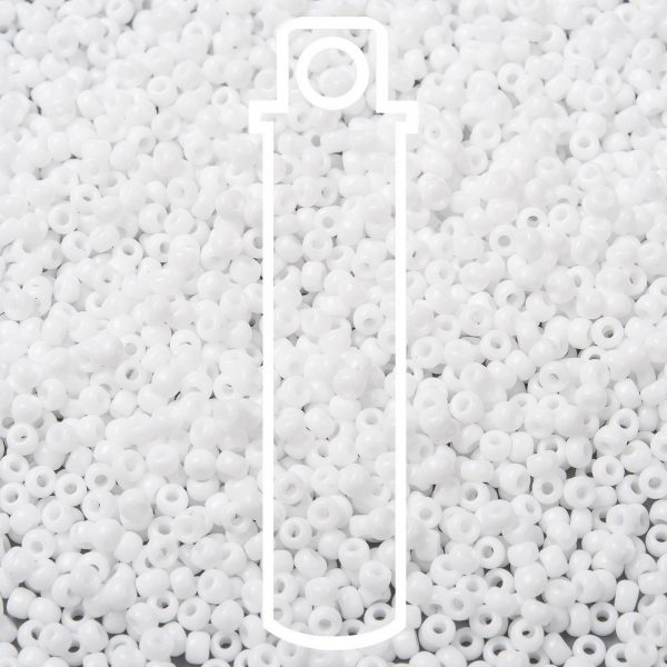 SEED JP0009 RR0402 1 1 RR402 White MIYUKI Round Rocailles Beads 8/0 (8-402), 3mm, Hole: 1mm about 866pcs/tube, 10g/tube