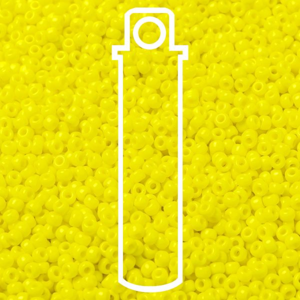 SEED JP0009 RR0404 1 1 RR404 Opaque Yellow MIYUKI Round Rocailles Beads 8/0 (8-404), 3mm, Hole: 1mm about 866pcs/tube, 10g/tube