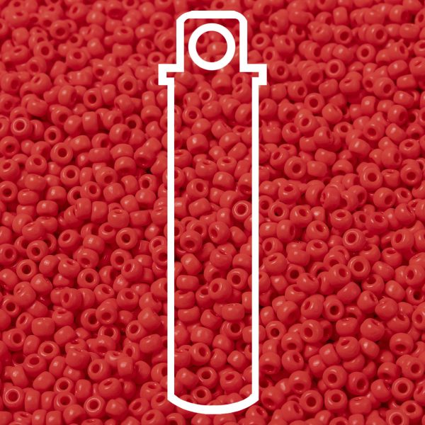 SEED JP0009 RR0407 1 1 RR407 Opaque Vermillion Red MIYUKI Round Rocailles Beads 8/0 (8-407), 3mm, Hole: 1mm about 866pcs/tube, 10g/tube