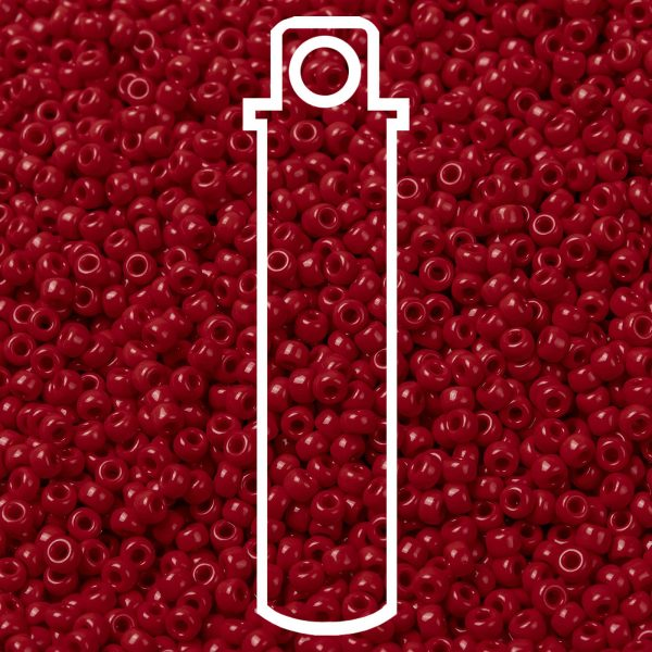 SEED JP0009 RR0408 1 1 RR408 Opaque Red MIYUKI Round Rocailles Beads 8/0 (8-408), 3mm, Hole: 1mm about 866pcs/tube, 10g/tube