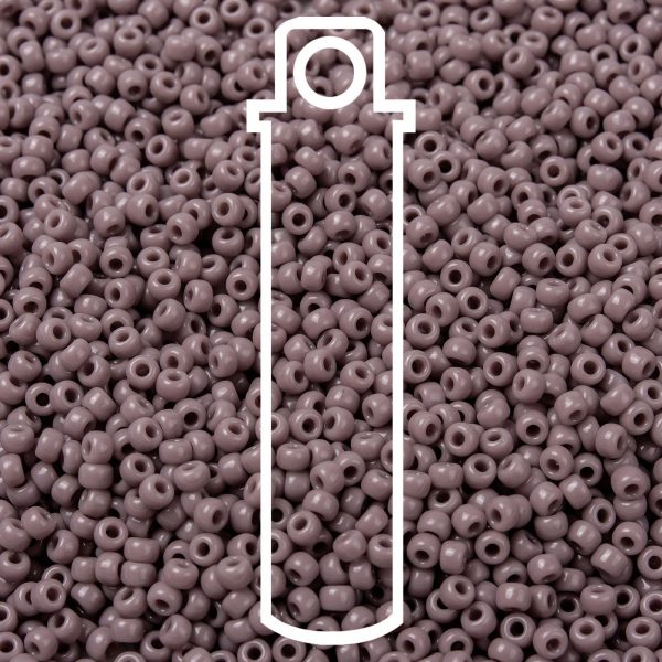SEED JP0009 RR0410 1 1 RR410 Opaque Mauve MIYUKI Round Rocailles Beads 8/0 (8-410), 3mm, Hole: 1mm about 866pcs/tube, 10g/tube