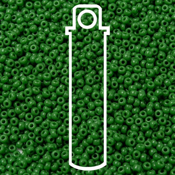 SEED JP0009 RR0411 1 1 RR411 Opaque Green MIYUKI Round Rocailles Beads 8/0 (8-411), 3mm, Hole: 1mm about 866pcs/tube, 10g/tube