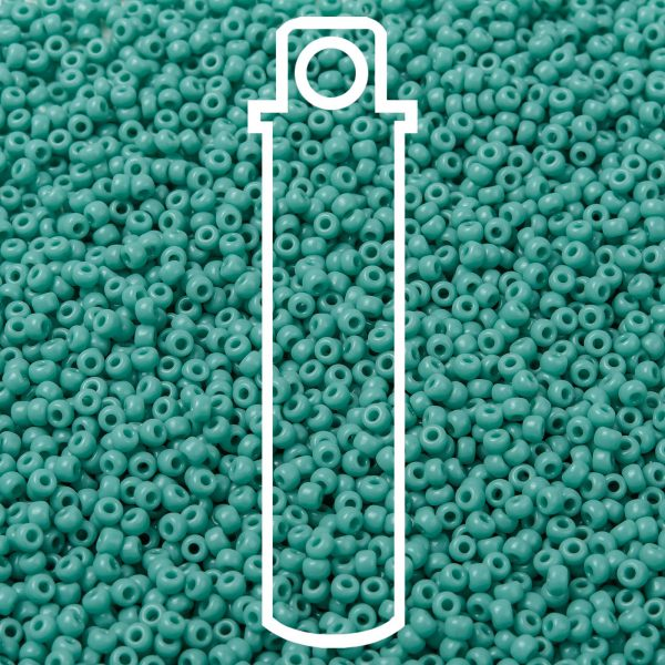SEED JP0009 RR0412L 1 1 RR412L Opaque Turquoise Green MIYUKI Round Rocailles Beads 8/0 (8-412L), 3mm, Hole: 1mm about 866pcs/tube, 10g/tube