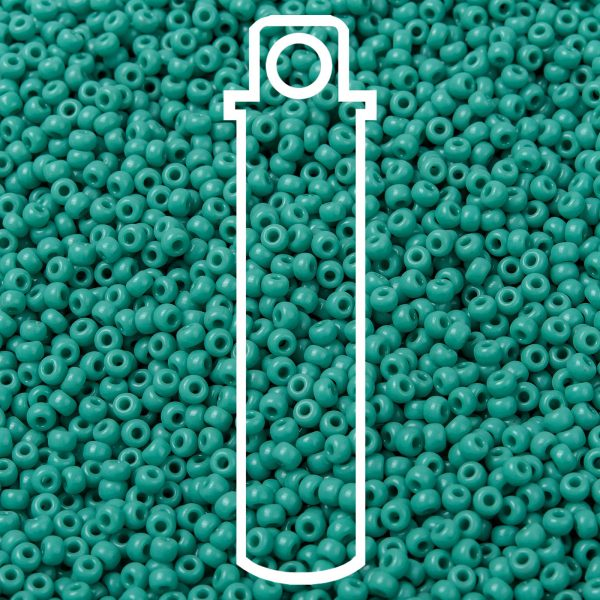 SEED JP0009 RR0412 1 1 RR412 Opaque Turquoise Green MIYUKI Round Rocailles Beads 8/0 (8-412), 3mm, Hole: 1mm about 866pcs/tube, 10g/tube