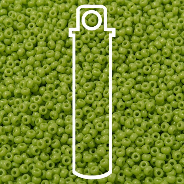 SEED JP0009 RR0416 1 RR416 Opaque Chartreuse MIYUKI Round Rocailles Beads 8/0 (8-416), 3mm, Hole: 1mm about 866pcs/tube, 10g/tube