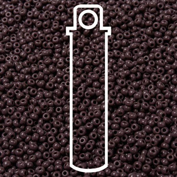 SEED JP0009 RR0497 1 RR497 Opaque Chocolate MIYUKI Round Rocailles Beads 8/0 (8-497), 3mm, Hole: 1mm about 866pcs/tube, 10g/tube