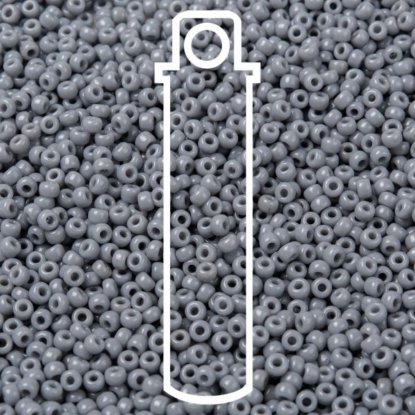 SEED JP0009 RR0498 1 RR498 Opaque Cement Gray MIYUKI Round Rocailles Beads 8/0 (8-498), 3mm, Hole: 1mm about 866pcs/tube, 10g/tube