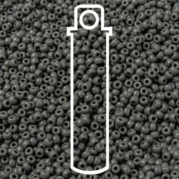SEED JP0009 RR0499 1 RR499 Opaque Falcon Gray MIYUKI Round Rocailles Beads 8/0 (8-499), 3mm, Hole: 1mm about 866pcs/tube, 10g/tube