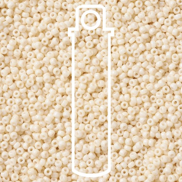 SEED JP0009 RR3324 1 RR3324 Opaque OldLace MIYUKI Round Rocailles Beads 8/0 (8-3324), 3mm, Hole: 1mm about 866pcs/tube, 10g/tube