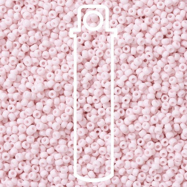 SEED JP0009 RR3326 1 RR3326 Opaque Misty Rose MIYUKI Round Rocailles Beads 8/0 (8-3326), 3mm, Hole: 1mm, about 866pcs/tube, 10g/tube