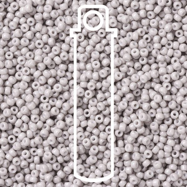 SEED JP0009 RR3330 1 RR3330 Opaque Light Smoke MIYUKI Round Rocailles Beads 8/0 (8-3330), 3mm, Hole: 1mm, about 866pcs/tube, 10g/tube