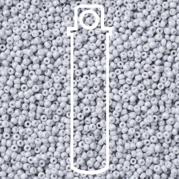 SEED JP0009 RR3331 1 RR3331 Opaque Ghost Gray MIYUKI Round Rocailles Beads 8/0 (8-3331), 3mm, Hole: 1mm, about 866pcs/tube, 10g/tube
