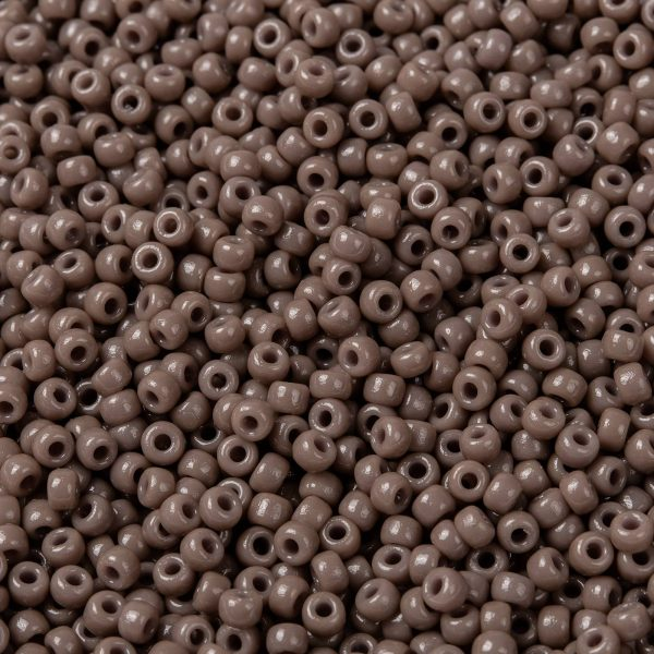SEED JP0009 RR4455 1 0 RR4455 Duracoat Dyed Opaque Beige MIYUKI Round Rocailles Beads 8/0 (8-4455), 3mm, Hole: 1mm; about 39000pcs/pound (450g)