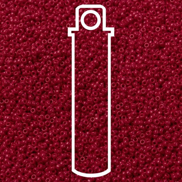 SEED JP0010 RR0408D 1 RR408D Opaque Dark Red MIYUKI Round Rocailles Beads 15/0 (15-408D), 1.5mm, Hole: 0.7mm; about 5555pcs/tube, 10g/tube