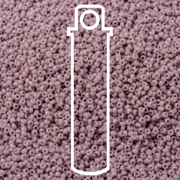 SEED JP0010 RR0410 1 RR410 Opaque Mauve MIYUKI Round Rocailles Beads 15/0 (15-410), 1.5mm, Hole: 0.7mm; about 5555pcs/tube, 10g/tube