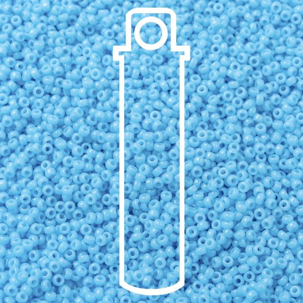 SEED JP0010 RR0413 1 RR413 Opaque Turquoise Blue MIYUKI Round Rocailles Beads 15/0 (15-413), 1.5mm, Hole: 0.7mm; about 5555pcs/tube, 10g/tube