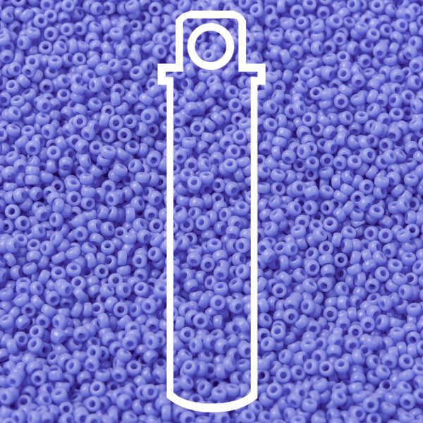 SEED JP0010 RR0417L 1 RR417L Opaque Periwinkle MIYUKI Round Rocailles Beads 15/0 (15-417L), 1.5mm, Hole: 0.7mm; about 5555pcs/tube, 10g/tube