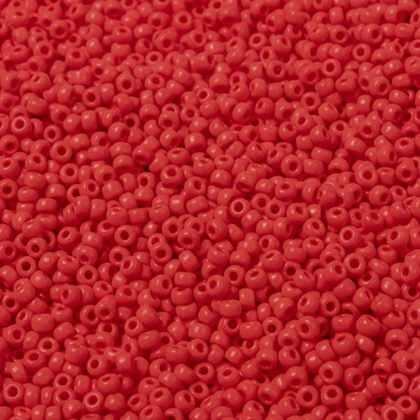 SEED X0055 RR0407 1 RR407 Opaque Vermillion Red MIYUKI Round Rocailles Beads 8/0 (8-407), 3mm, Hole: 1mm; about 4333pcs/50g