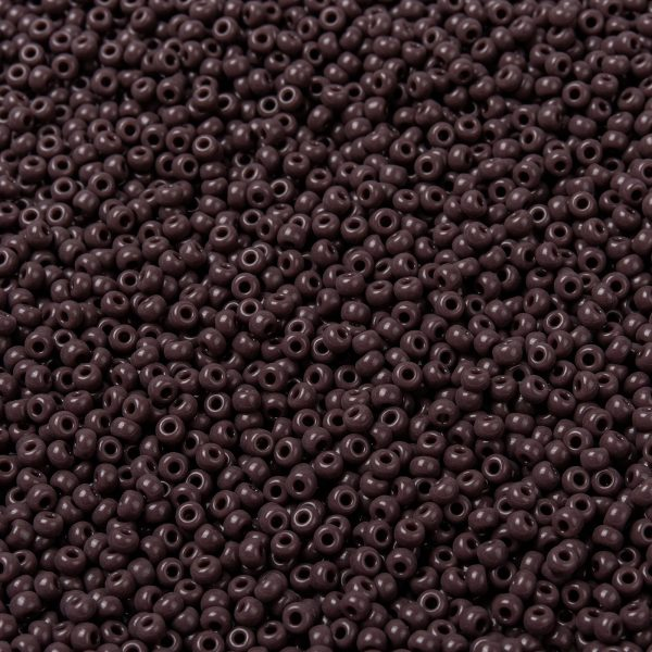 SEED X0055 RR0497 1 RR497 Opaque Chocolate MIYUKI Round Rocailles Beads 8/0 (8-497), 3mm, Hole: 1mm; about 4333pcs/50g