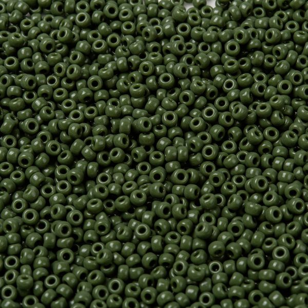SEED X0055 RR0501 1 RR501 Opaque Avocado MIYUKI Round Rocailles Beads 8/0 (8-501), 3mm, Hole: 1mm; about 4333pcs/50g