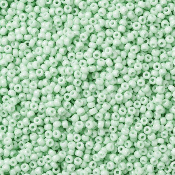 SEED X0055 RR3328 1 RR3328 Opaque Light Mint MIYUKI Round Rocailles Beads 8/0 (8-3328), 3mm, Hole: 1mm; about 4333pcs/50g
