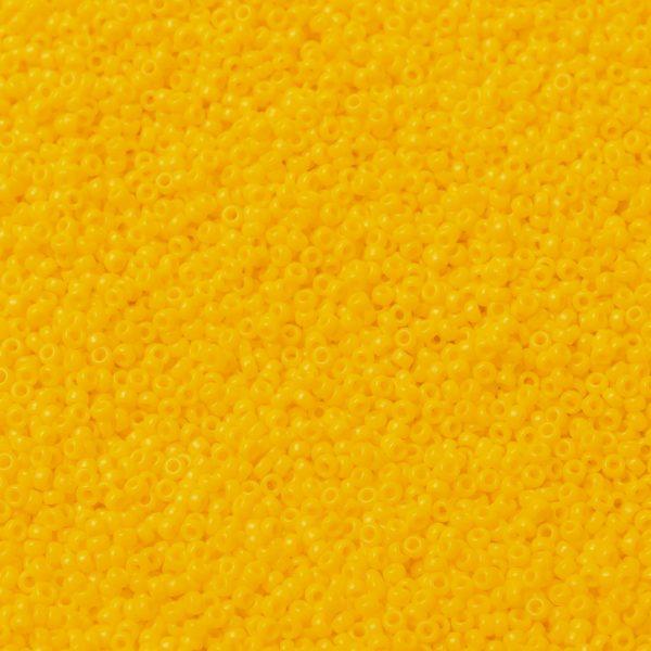 SEED X0056 RR0404D 1 RR404D Opaque Dark Yellow MIYUKI Round Rocailles Beads 15/0 (15-404D), 1.5mm, Hole: 0.7mm; about 27777pcs/50g
