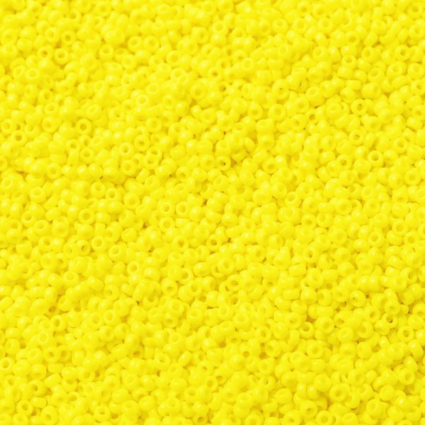 SEED X0056 RR0404 1 RR404 Opaque Yellow MIYUKI Round Rocailles Beads 15/0 (15-404), 1.5mm, Hole: 0.7mm; about 27777pcs/50g