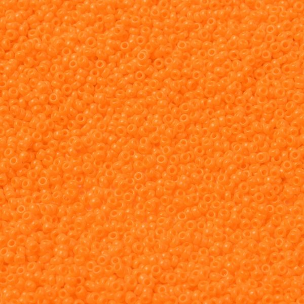 SEED X0056 RR0405 1 RR406 Opaque Orange MIYUKI Round Rocailles Beads 15/0 (15-406), 1.5mm, Hole: 0.7mm; about 27777pcs/50g