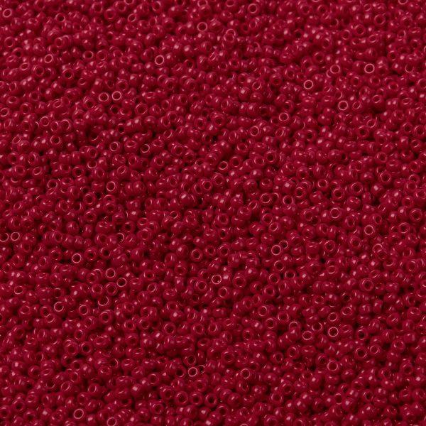 SEED X0056 RR0408D 1 RR408D Opaque Dark Red MIYUKI Round Rocailles Beads 15/0 (15-408D), 1.5mm, Hole: 0.7mm; about 27777pcs/50g