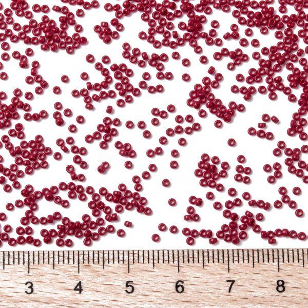 SEED X0056 RR0408D 2 RR408D Opaque Dark Red MIYUKI Round Rocailles Beads 15/0 (15-408D), 1.5mm, Hole: 0.7mm; about 27777pcs/50g