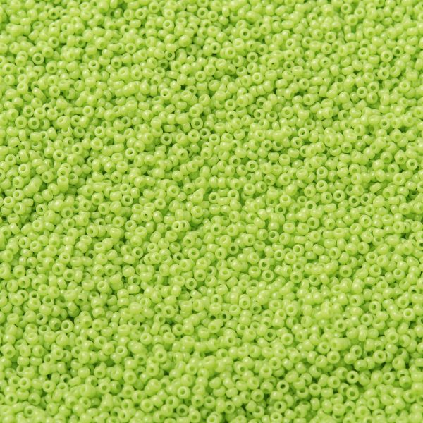SEED X0056 RR0416 1 RR416 Opaque Chartreuse MIYUKI Round Rocailles Beads 15/0 (15-416), 1.5mm, Hole: 0.7mm; about 27777pcs/50g