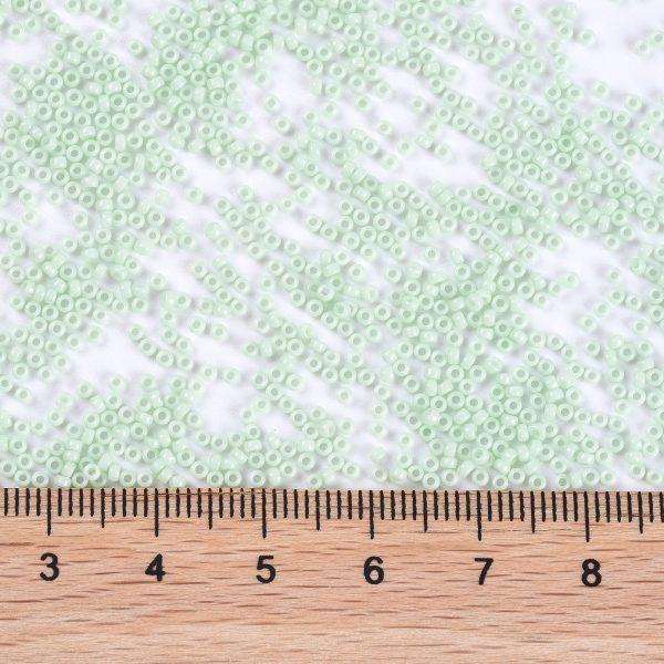 SEED X0056 RR3328 2 RR3328 Opaque Light Mint MIYUKI Round Rocailles Beads 15/0 (15-3328), 1.5mm, Hole: 0.7mm; about 27777pcs/50g
