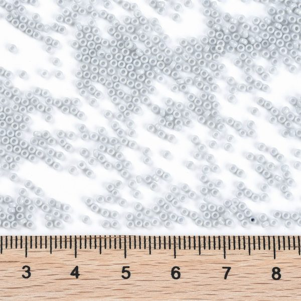 SEED X0056 RR3331 2 RR3331 Opaque Ghost Gray MIYUKI Round Rocailles Beads 15/0 (15-3331), 1.5mm, Hole: 0.7mm; about 27777pcs/50g