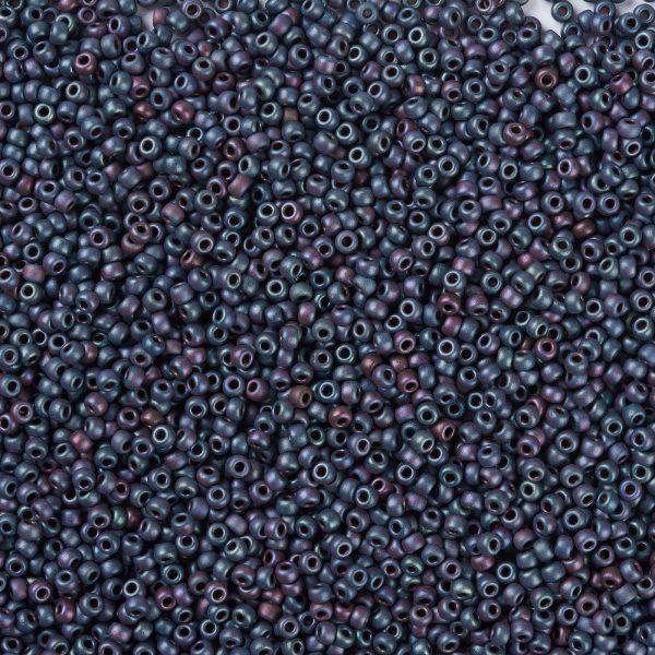 X SEED G008 RR2009 1 MIYUKI Round Rocailles 8/0 RR2009 Matte Metallic Blue Iris Seed Beads (8-2009), 450g/Bag